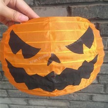 Party favor halloween paper lantern led