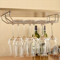 under cabinets 34cm Long Double Wine Glass Holder Hanging Rack