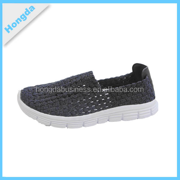 excellent colorful casual woven kids sport shoes