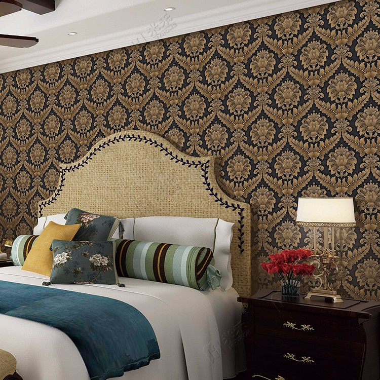 2017 New Design Damask Italian Classic Cheap Price Wall Decorative Wall Paper for Wall Decors