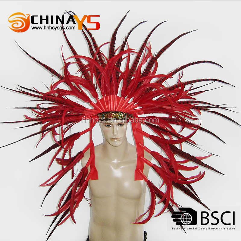 Manufacture Whosale Indian Pheasant Feather headband with Competitive Price