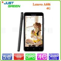 New design unlocked mobile phones 5 inch 4G Lenovo A606 MT6582m quad cores android 4.4