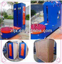 plastic wrapping machine for luggage use bottle carton box goods packing machine