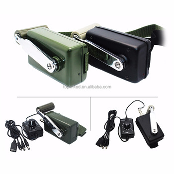 Mini Hand Crank Generator Outdoor Sport Necessity Charging for Notebook Cellphone Light Use at Home