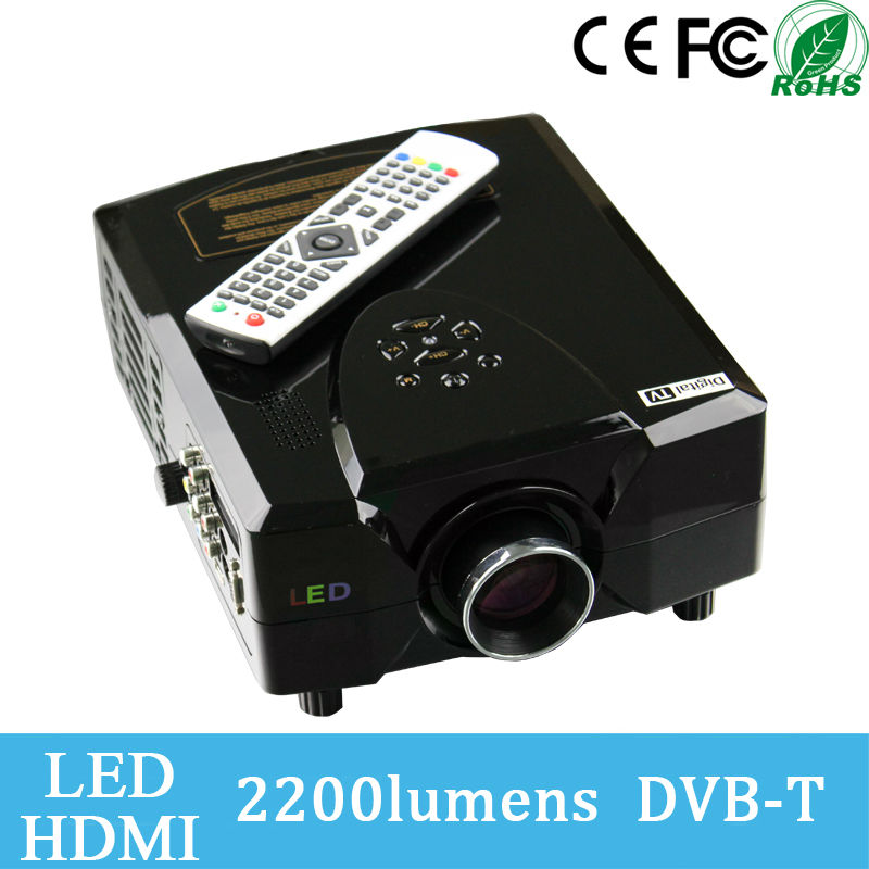 Cheap 800*600 Resolution 2200 Lumens 16:9 Big Image Support 1080p 3D Mini Projector
