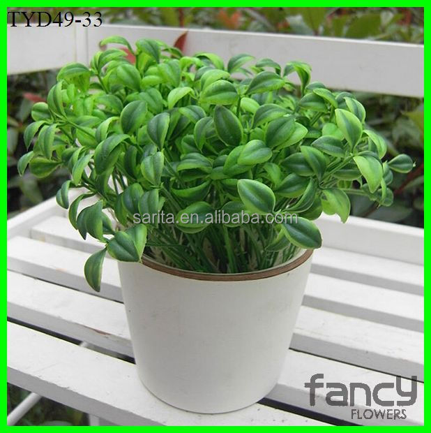 artificial artificial green leaf plastic bean sprout for decoration