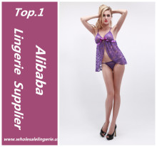 2017 Fancy purple unique lace open bust sexy girls babydoll wholesale