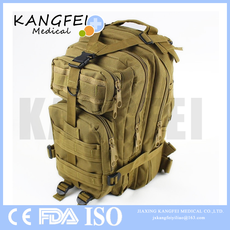 2017 New Arrival KF268 Wilderness Survival emergency tactical first aid kit military backpack