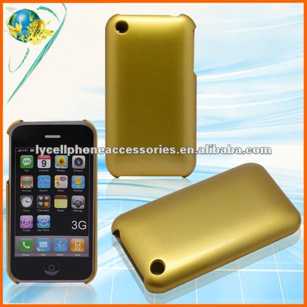 For Apple iPhone 3G 3GS Glossy Gold hard mobile phone back case