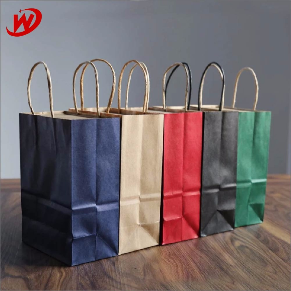 China Suppliers Yiwu New Wholesale Products Cheap Custom Kraft Shopping Gift Paper Bag With Twist Handles