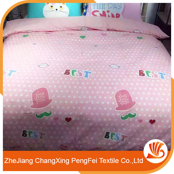 Brushed printed fabric bed sheet designs