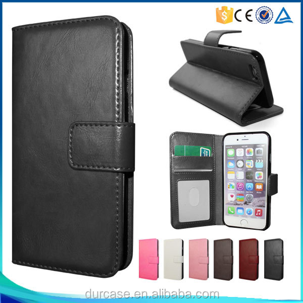 Factory direct mobile phone leather wallet case, for Nokia LUMIA 550 leather flip case with folder