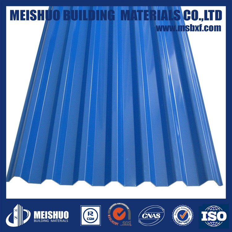 Color flexible metal corrugated roofing