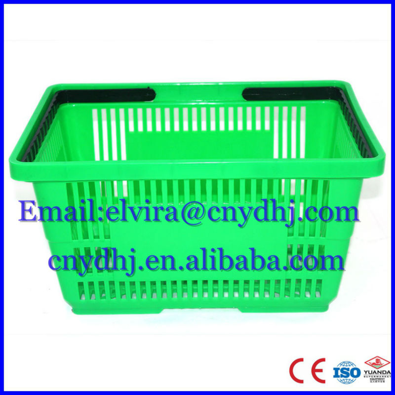 YD-ZC-6/25L Good Quality shopping supermarket basket With handle of cost performance Suzhou Factory Wholesale