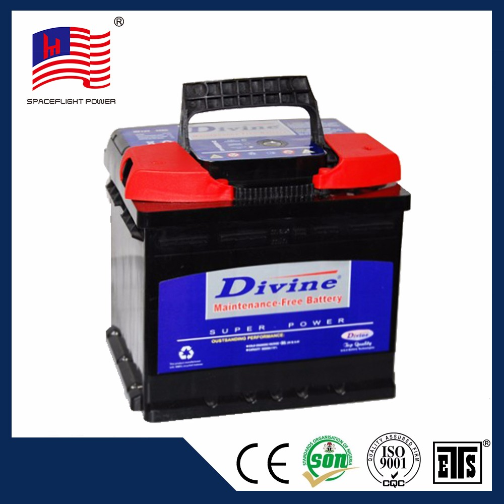 best selling DIN44 12volt 44ah high temperature resistant unique car battery weight
