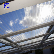 Plastic building material easy to use polycarbonate corrugated pc hollow roofing sheet from poland