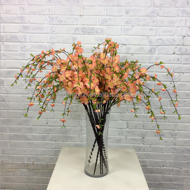 Big Wholesale Artificial silk white cherry blossom branch