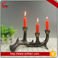 Resin christmas deer antler ornament tea light candle holder