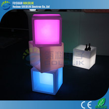 GLACS led music dancing furniture led light plastic glowing cube seat outdoor