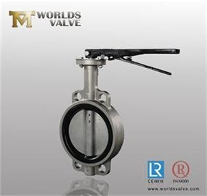stainless steel soft seal wafer/lug/flanged butterfly valve