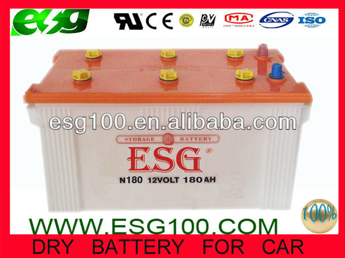 N180 ca/auto/truck/automatic battery Dry battery