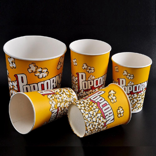 Alibaba wholesale paper printed custom printed popcorn bucket low price