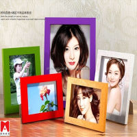 Colourful Plastic Picture Frame 4x6 5x7 6x8 8x10 Digital photo frame with clock
