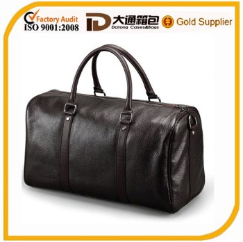 waterproof durable PU leather travel bag