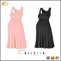 Ecoach maternity clothing wholesale Women's Maternity empire waist Knee Length Tank Dress