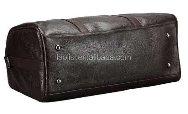 Guangzhou manufacturing personalize napa soft leather weekend bag best travel bag