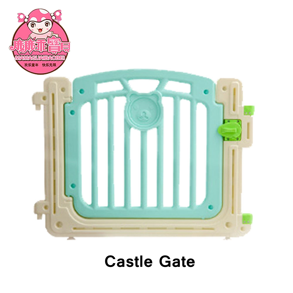 m-08 cyan color infant baby fence castle gate - buy retractable