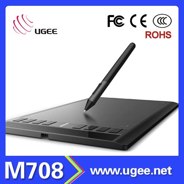 USB Powered Digital Drawing Capture Graphics Tablet with Stylus Pen Ugee M708