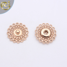 N-1128 Customized Precise Design Metal Hollow Out Self Cover Fancy Snap Button