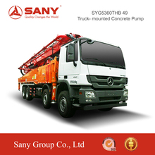 SANY SYG5360THB C8 Series Truck Mounted Concrete Pump 49m Reliable Quality Portable Concrete Mixer and Pump