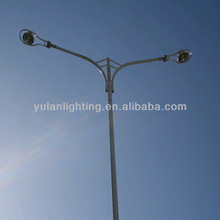 different shape galvanized street lighting pole 12m