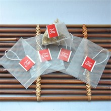 Hot sale best price empty tea bags with string and tag