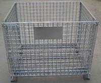 RH-C-E01 Heavy Duty Warehouse Storage Cage,Folding Steel Wire Mesh Cage