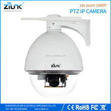 1080P 10x optical zoom waterproof HD IP PTZ Camera, support p2p outdoor speed dome wireless security camera.