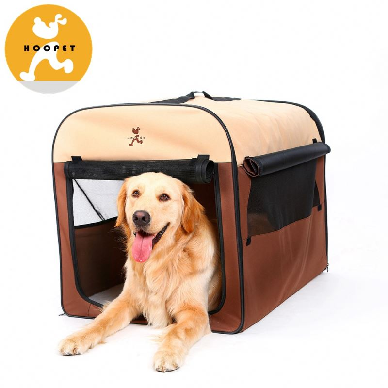 Fashion cubic brown bolster folding pet house pet carrier