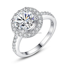 Fancy cubic zirconia round cut engagement bridal brand wedding rings