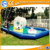 New design inflatable water slide pool kids/ adult size inflatable pool for sale