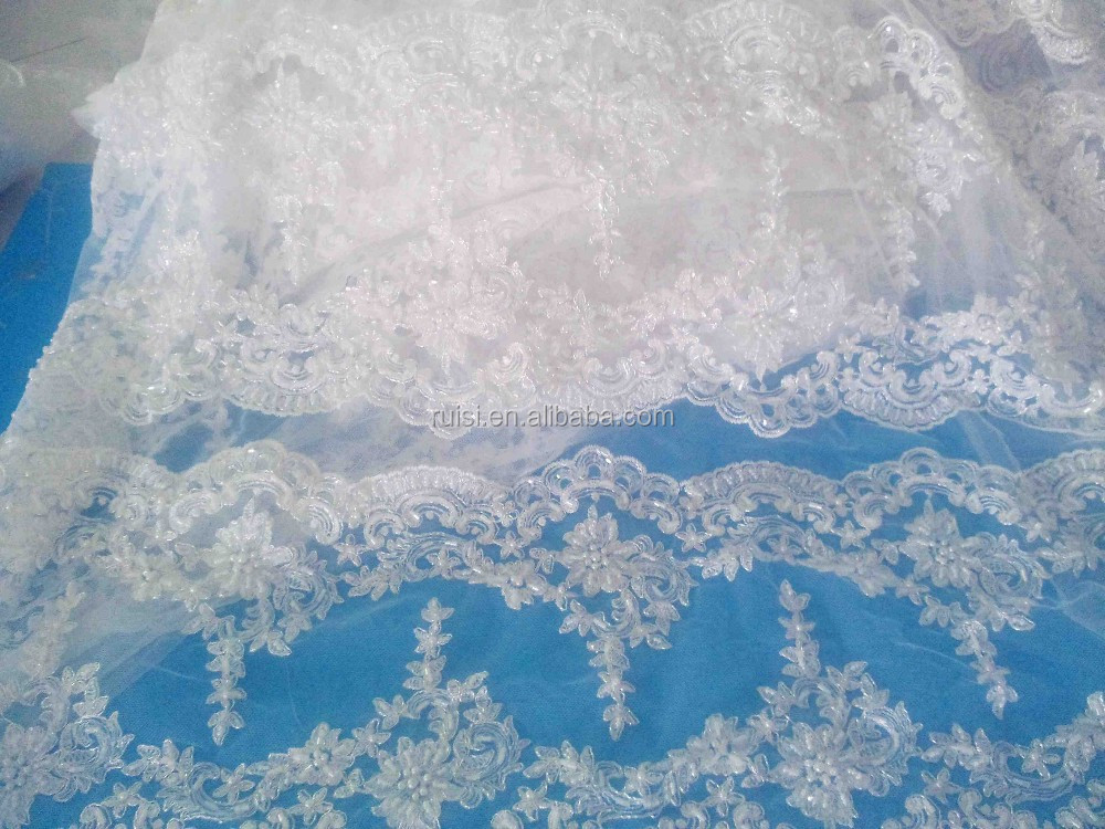 Double Ruffled Lace Trim,Ivory Scalloped Lace Edging