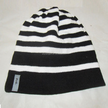Custom Stripe Pattern Winter Beanie Oversize Adult Knitted Hat Wholesales Multi Striped Warm Cap