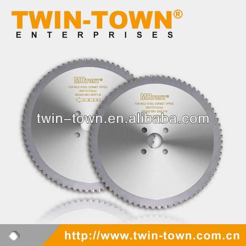 Cermet tipped disposable tct saw blade