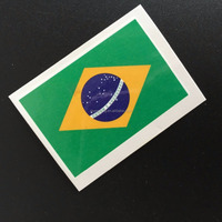 2016 Brazil flag face tattoo sticker football skin safe tattoo sticker