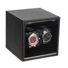 Viiways Carbon Fiber Leather Made PU Rotating Watch Box with watch storage box Function