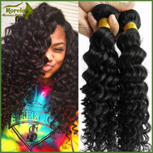 Hair Extension Type and deep Wave Style 100% human natural peruvian hair weave