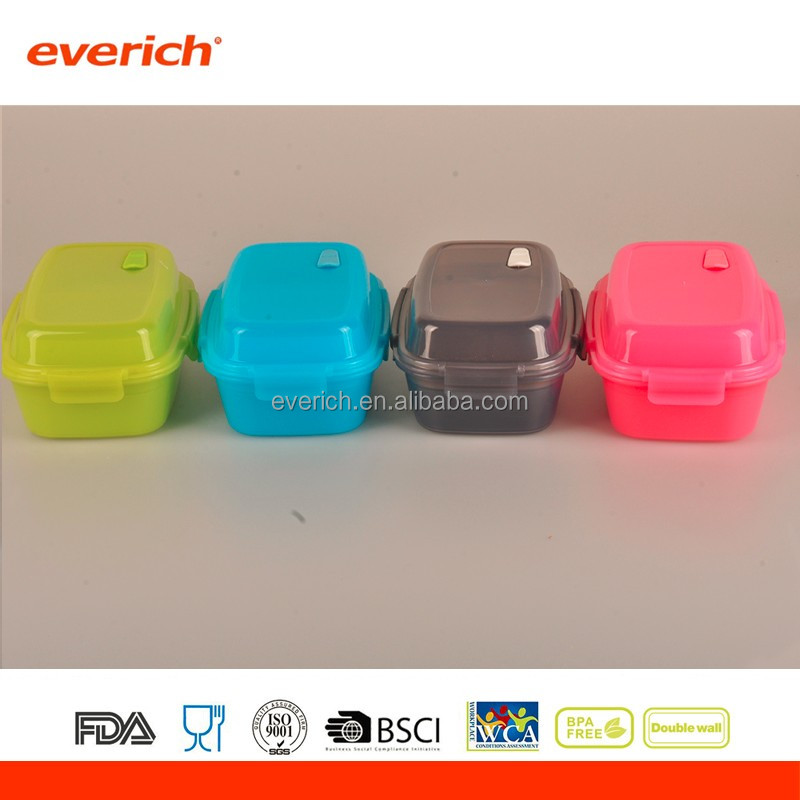 Everich hot selling Food grade PP plastic lunch box recipes for kids for school