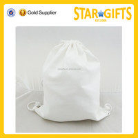 2015 Wholesale convenient laundry products white drawstring bag