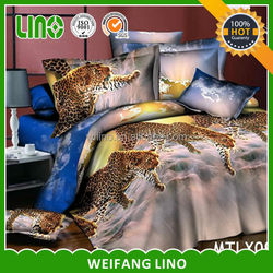 royal bedroom sets/disposable mattress cover/leopard duvet cover